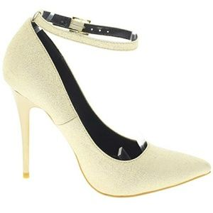 Audrey-Pointy Toe Stiletto Pump w/Thin Ankle Strap